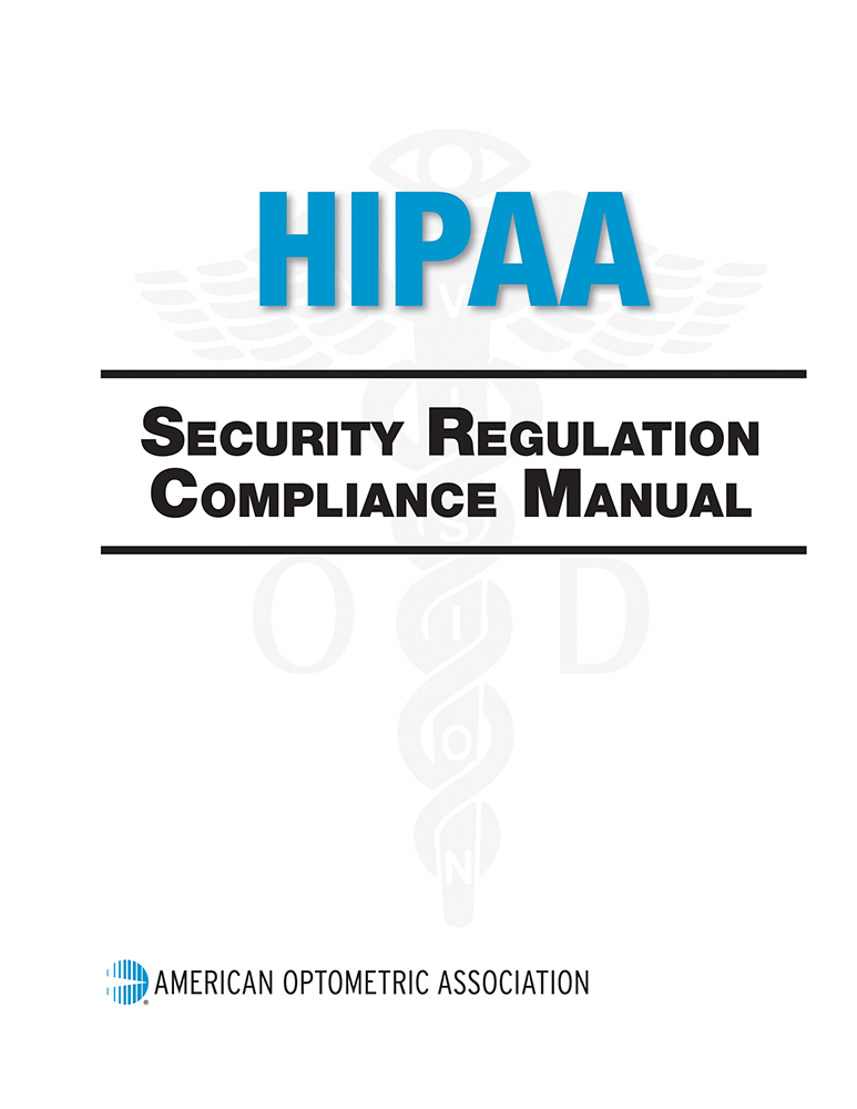 Aoa marketplace eyecare pamphlets forms coding and other hipaa security regulations manual print book fandeluxe Gallery